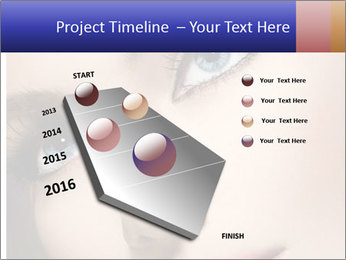 Woman Applying Maskara PowerPoint Templates - Slide 26