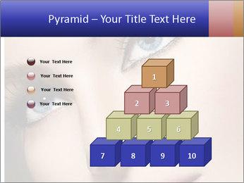 Woman Applying Maskara PowerPoint Templates - Slide 31