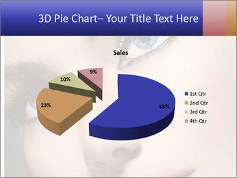 Woman Applying Maskara PowerPoint Templates - Slide 35