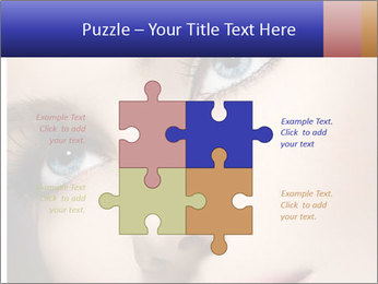 Woman Applying Maskara PowerPoint Template - Slide 43