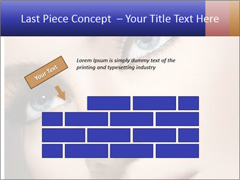 Woman Applying Maskara PowerPoint Template - Slide 46