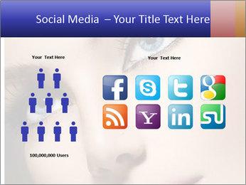 Woman Applying Maskara PowerPoint Templates - Slide 5