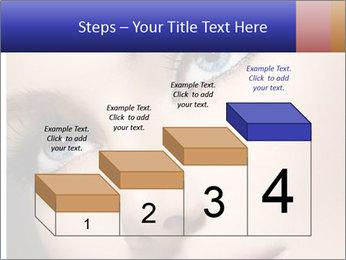 Woman Applying Maskara PowerPoint Templates - Slide 64