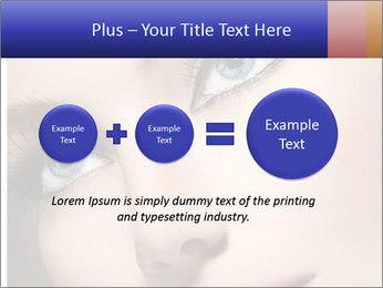 Woman Applying Maskara PowerPoint Templates - Slide 75