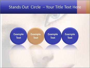 Woman Applying Maskara PowerPoint Templates - Slide 76