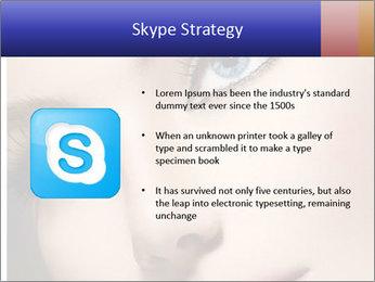Woman Applying Maskara PowerPoint Templates - Slide 8