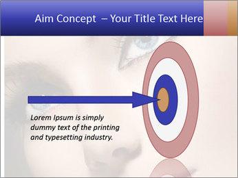 Woman Applying Maskara PowerPoint Templates - Slide 83