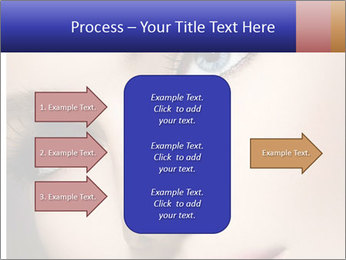 Woman Applying Maskara PowerPoint Template - Slide 85