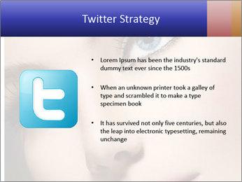 Woman Applying Maskara PowerPoint Templates - Slide 9