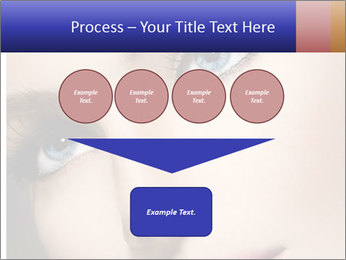 Woman Applying Maskara PowerPoint Template - Slide 93