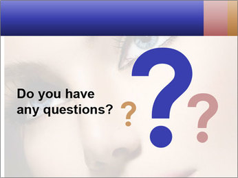 Woman Applying Maskara PowerPoint Template - Slide 96
