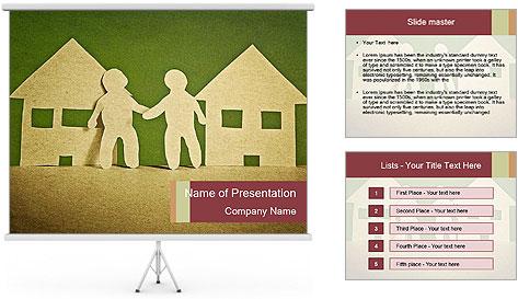 Paper Neighborhood PowerPoint Template