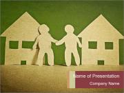 Paper Neighborhood PowerPoint Templates