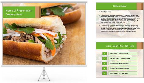 Meat Sandwich PowerPoint Template