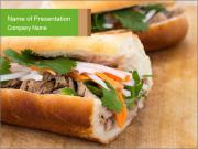 Meat Sandwich PowerPoint Template