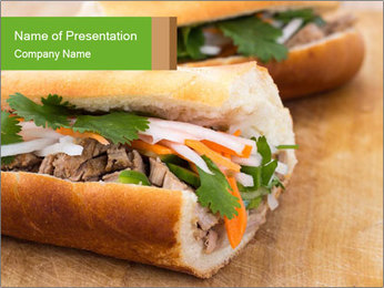 Meat Sandwich PowerPoint Templates - Slide 1