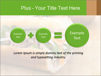 Meat Sandwich PowerPoint Templates - Slide 75