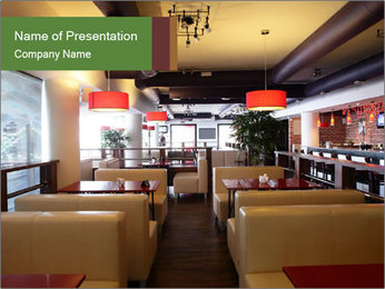 The restaurant before opening. PowerPoint Template - Slide 1