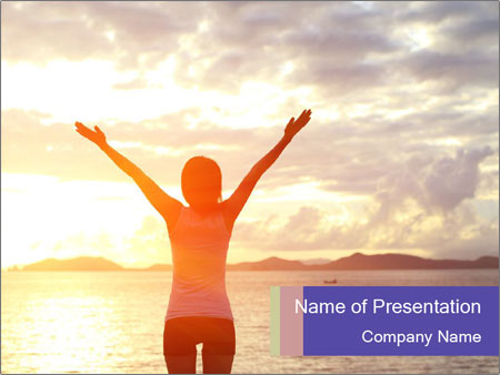 Woman Meeting Sunset PowerPoint Template