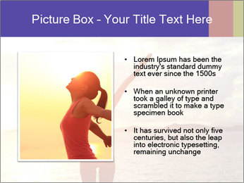 Woman Meeting Sunset PowerPoint Template - Slide 13