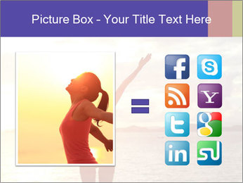 Woman Meeting Sunset PowerPoint Template - Slide 21