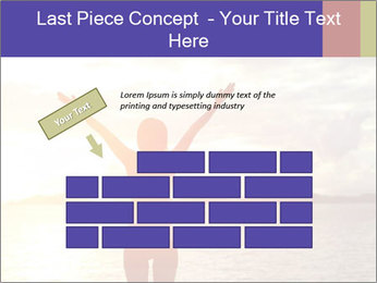 Woman Meeting Sunset PowerPoint Template - Slide 46