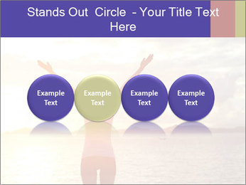 Woman Meeting Sunset PowerPoint Template - Slide 76