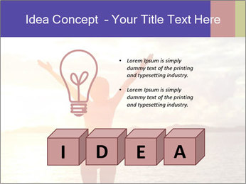 Woman Meeting Sunset PowerPoint Template - Slide 80