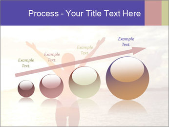 Woman Meeting Sunset PowerPoint Template - Slide 87