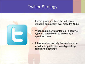 Woman Meeting Sunset PowerPoint Template - Slide 9