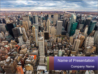 NYC Downtown PowerPoint Template - Slide 1