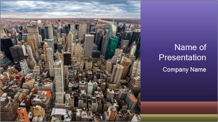 NYC Downtown PowerPoint Template