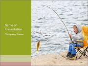 Small Boy Fishing PowerPoint Template