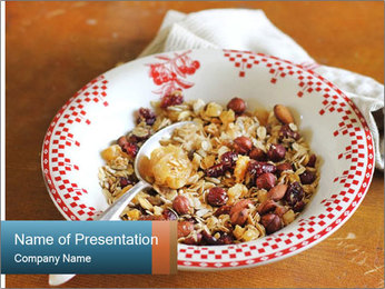 Organic Granola PowerPoint Templates - Slide 1