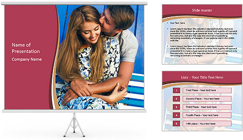Sweet Kiss PowerPoint Template