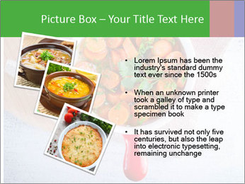 Healthy food. Sliced carrots with herbs. PowerPoint Template - Slide 17