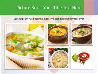 Healthy food. Sliced carrots with herbs. PowerPoint Template - Slide 19