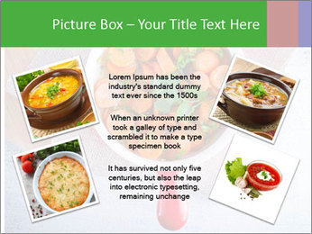 Healthy food. Sliced carrots with herbs. PowerPoint Template - Slide 24