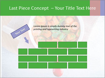 Healthy food. Sliced carrots with herbs. PowerPoint Template - Slide 46