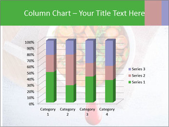 Healthy food. Sliced carrots with herbs. PowerPoint Template - Slide 50