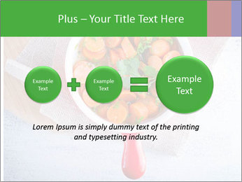 Healthy food. Sliced carrots with herbs. PowerPoint Template - Slide 75