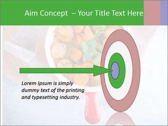 Healthy food. Sliced carrots with herbs. PowerPoint Template - Slide 83