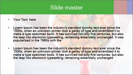Healthy food. Sliced carrots with herbs. PowerPoint Template - Slide 2