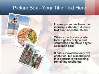 Happy friends, posing for a selfie. PowerPoint Template - Slide 17