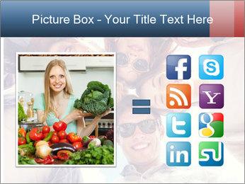 Happy friends, posing for a selfie. PowerPoint Template - Slide 21