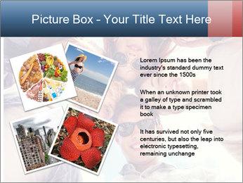 Happy friends, posing for a selfie. PowerPoint Template - Slide 23