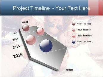 Happy friends, posing for a selfie. PowerPoint Template - Slide 26