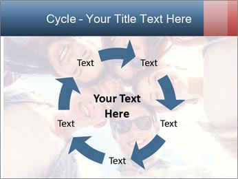 Happy friends, posing for a selfie. PowerPoint Template - Slide 62