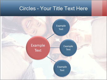Happy friends, posing for a selfie. PowerPoint Template - Slide 79