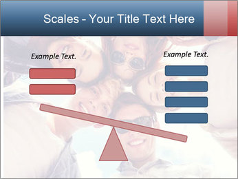 Happy friends, posing for a selfie. PowerPoint Template - Slide 89